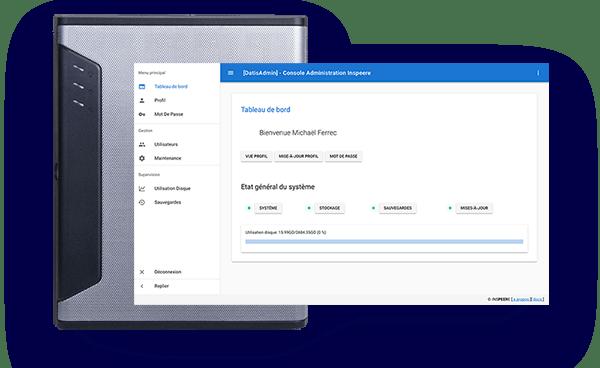 Datis Box et écran d'administration